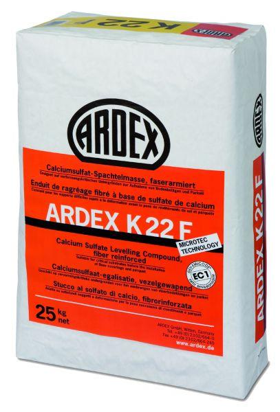 ARDEX K 22F FASERARMIERTE CALCIUMSULFAT SPACHTELMASSE, 25 KG